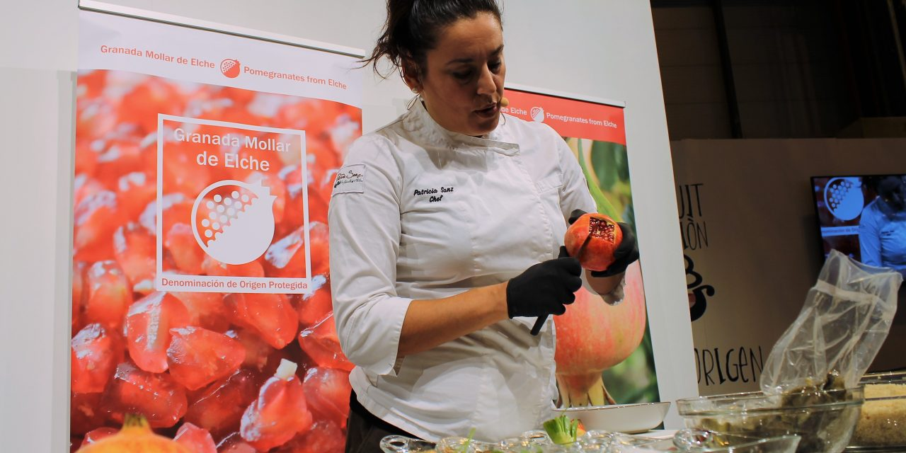 Patricia Sanz, la Chef muestra el lado saludable de la Granada Mollar de Elche